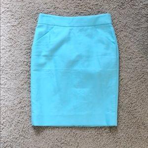 J Crew Factory Double Serge Cotton Pencil Skirt